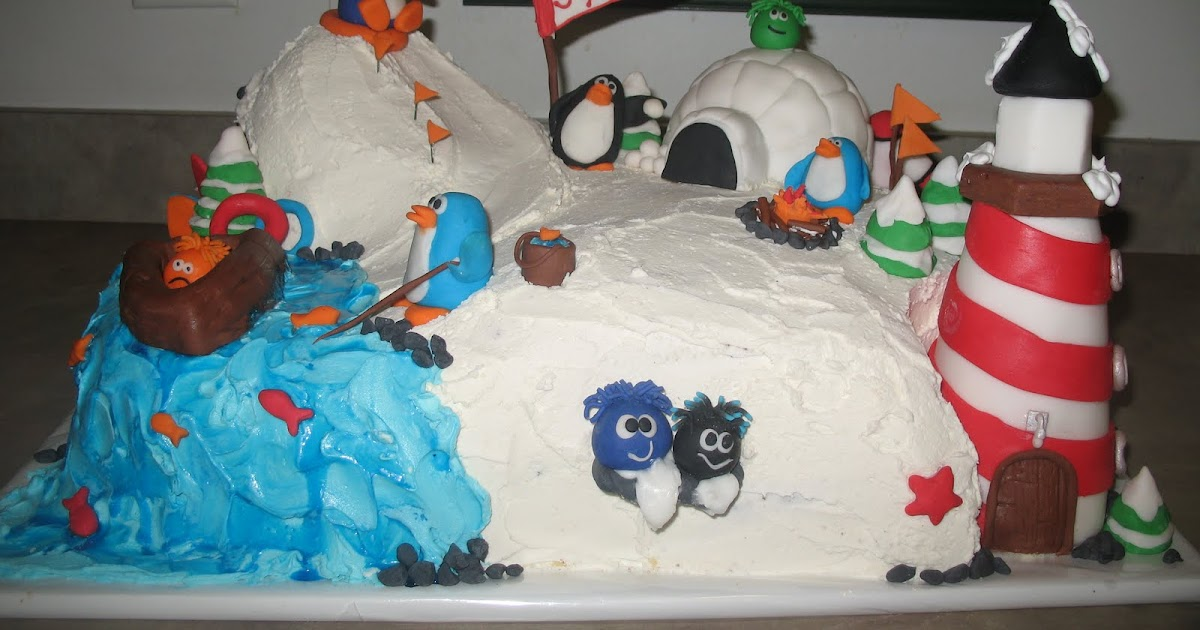 Little Miss Muffins Cakes Club Penguin Birthday Cake