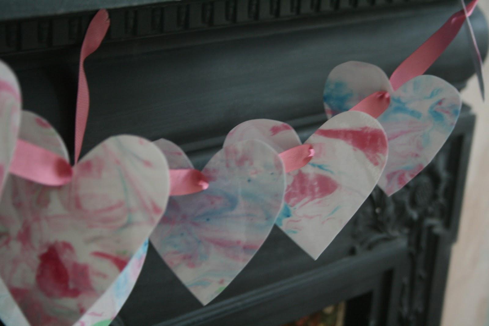 Shaving Foam Marbling Valentine S Hearts The Imagination