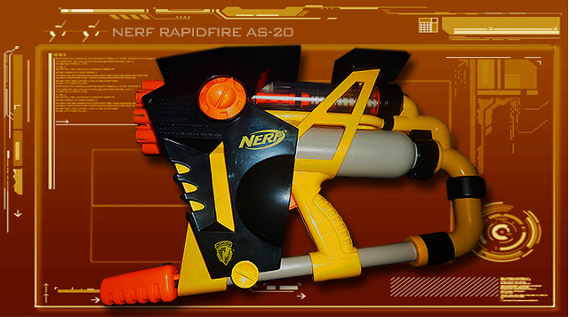 Urban Taggers Review Nerf N Strike Rapidfire As 20