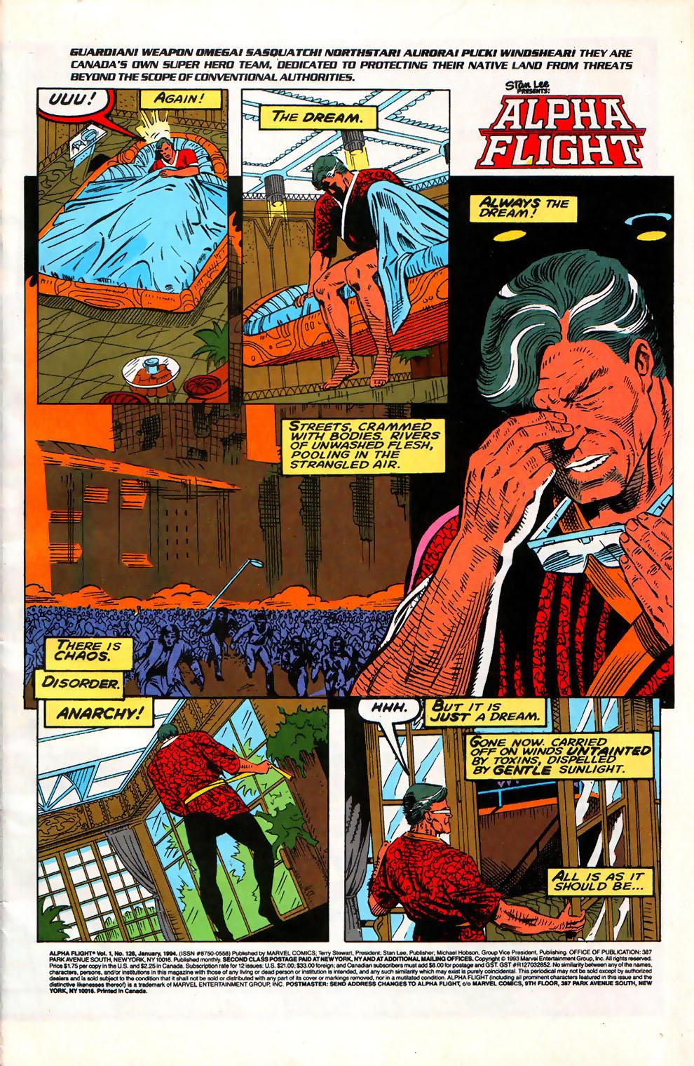 Alpha Flight (1983) issue 128 - Page 2