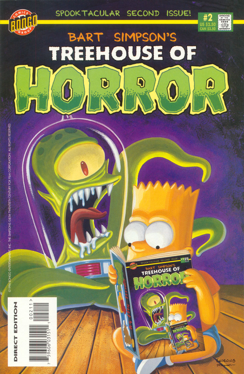 Read online Treehouse of Horror comic -  Issue #2 - 1