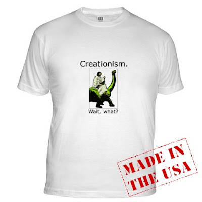 b7e47c4bf Wow, you just disproved Creationism... and looked damn good doing it! If  this isn't quite your design, find many more Atheism-friendly shirts at  Cafepress.