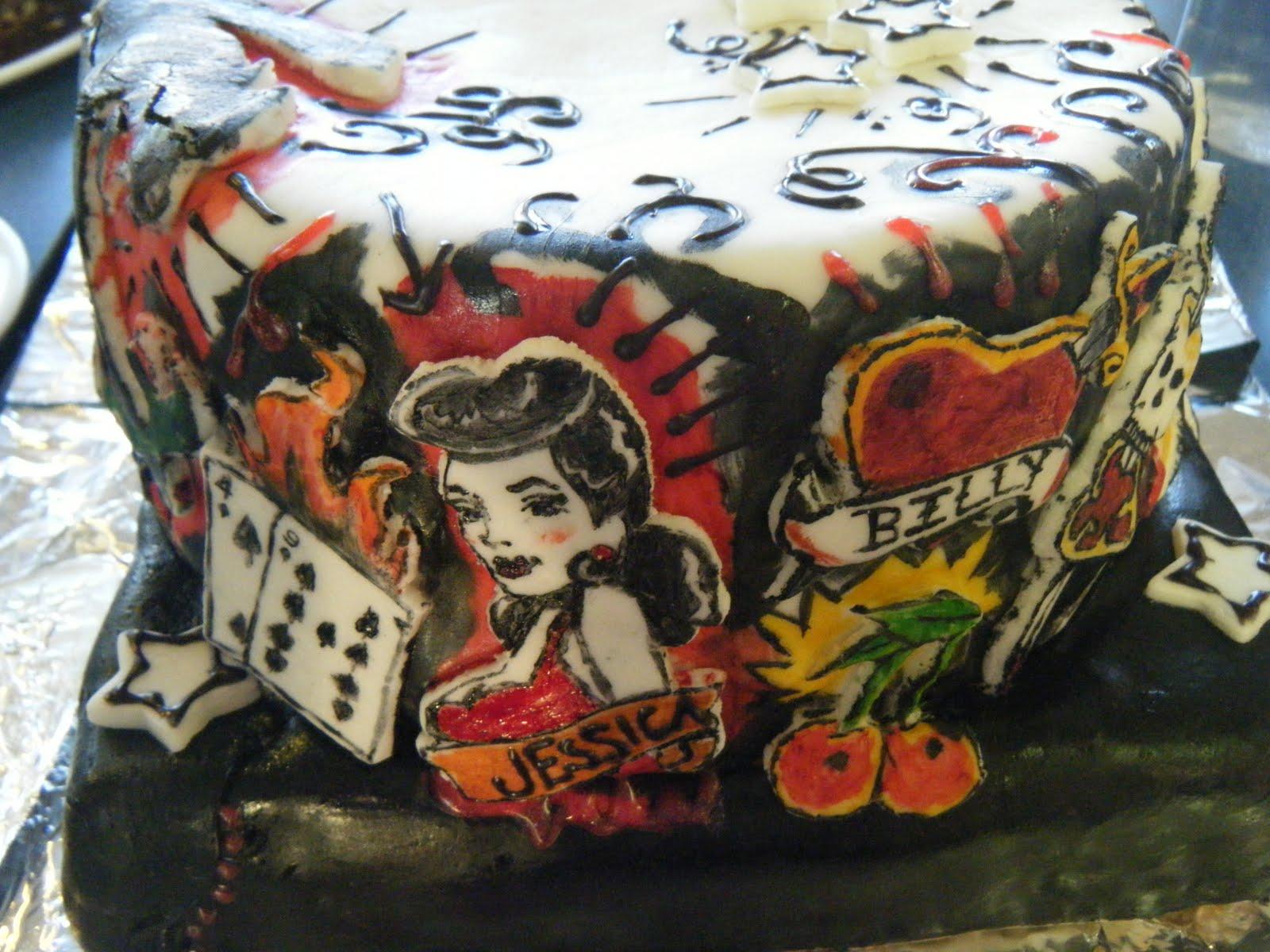 Circus Cakes The Tattoo Cake