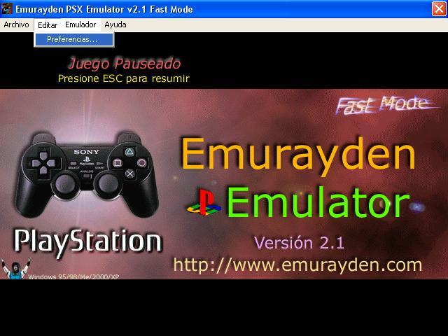 emurayden psx emulator v2.1