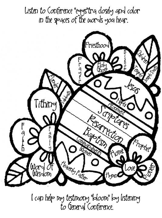 lds easter coloring pages easypeasy grandma lds general conference easter activities