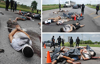 WARNING: Graphic Photos Reveal Cartel Firefight Just Miles ...  |Zetas Violence