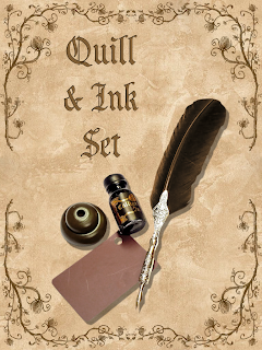 FREE PNG PSD PSP TUBES from Pewter7: PNG Quill & Ink setQuill And Ink Set
