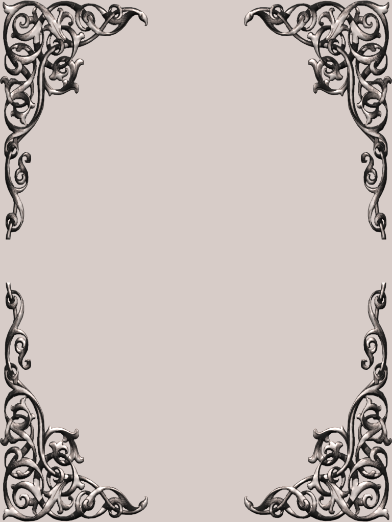 FREE PNG PSD PSP TUBES from Pewter7: Fancy Corner Scroll ... Fancy Color Border