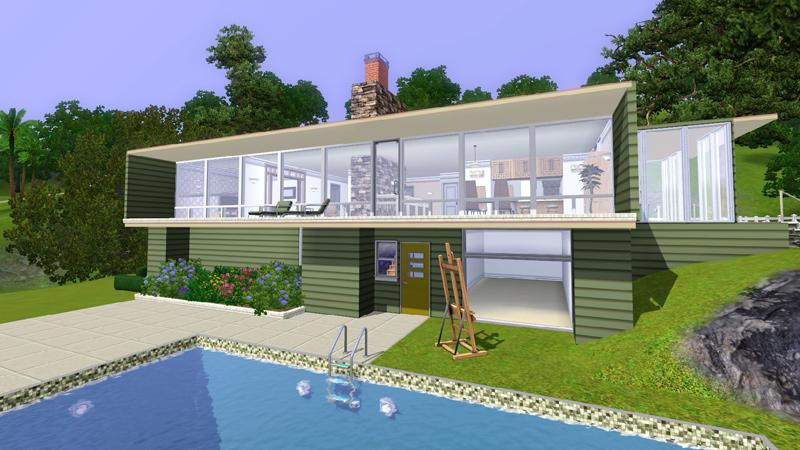 Sims 3 blog sims 3 las 10 casas m s for Casa moderna sims 3 sin expansiones