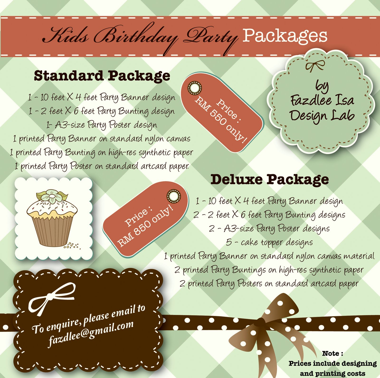 Fazdlee Isa Design Lab: Kids Birthday Party Packages