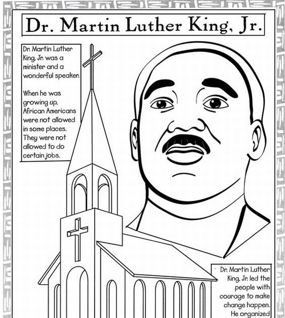 Coloring Cabin: Martin Luther King Jr. Printables and ...
