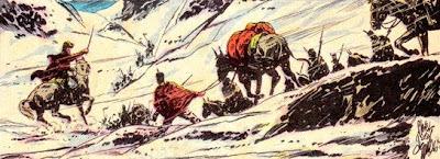 Dibujo representando la Expedición de San Martín
