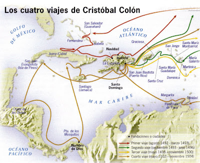 viajes de cristobal de colon: