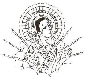 Breve Historia Universal Dibujo Para Colorear La Virgen Maria