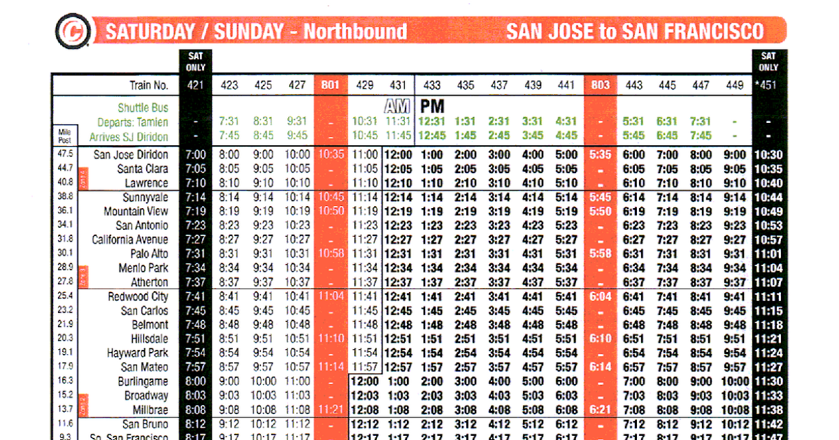 Vta Watch Vta January 2011 Bus Changes And Caltrain