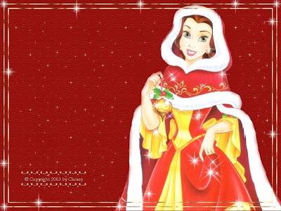 Belle Christmas Princess Wallpaper Backgrounds