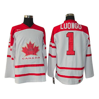 Vancouver 2010 Olympic Team Canada  1 Luongo Ice Hockey White Jersey Get  Wholesale Price From Now On  1STJereys.com 64311da84