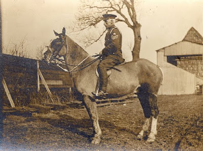 farrier astride war horse