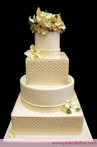 wedding cakes with square and round tiers artisan bake shop tea blue wedding cake with 26119