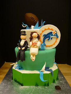 miami dolphin wedding cake toppers artisan bake shop october 2010 17330