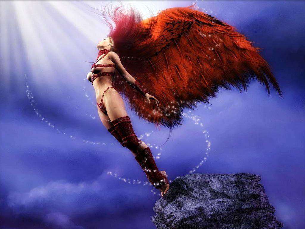 Artwork Fantasy Art Angel Wallpapers Hd Desktop And: Ⓦallⓟapers: Sfondi Angeli