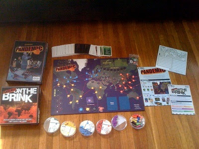Pandemic and Pandemic on the Brink games setup