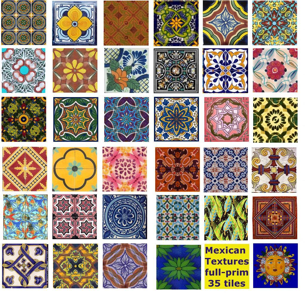 1st Grade Mexican Tiles | PSD Art Gallery