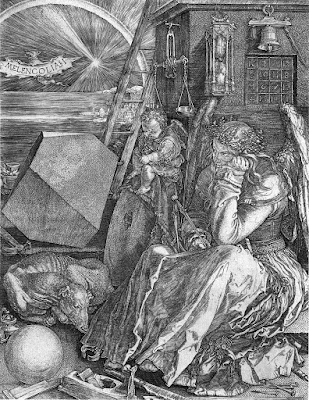 """Melencolia I"" by Albrecht Dürer, engraved in 1514, and showing a magic square."