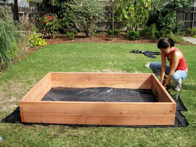 At Home At Home: DIY Raised Bed Vegetable Garden