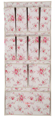 shoe hanging storage bag - also known as a shoe tidy - with rose pattern