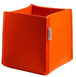 orange felt basket