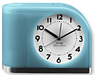 alarm clock, blue