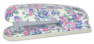 stapler with flowered pattern