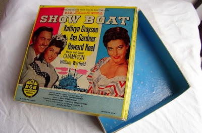 trinket box made from record album cover for the musical Showboat