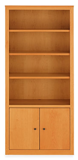 wood media center - four shelves with cabinet below