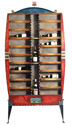 wine rack cabinet, colorful