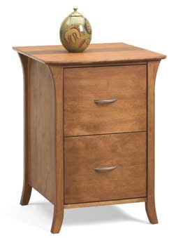 stylish 2-drawer wood file cabinet