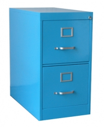blue 2-drawer steel file cabinet