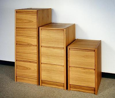 Teak File Cabinets, 3 Sizes