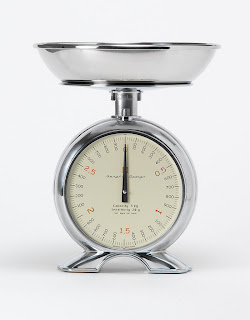 kitchen scale and clock combination