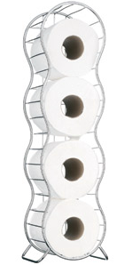 Splash toilet roll holder