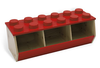 LEGO stacking bin - storage shaped like a LEGO brick