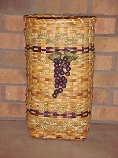 umbrella basket with wine grape embellishment