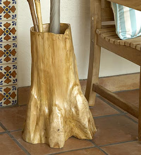 umbrella stand from root balls