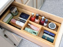bathroom drawer organizer for cosmetics