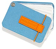 business card holder, blue