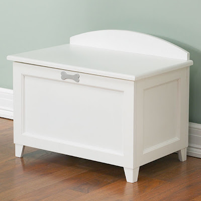 white pet toy box