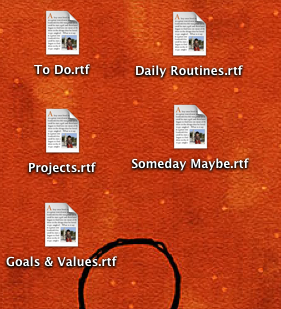 five computer files on a computer desktop