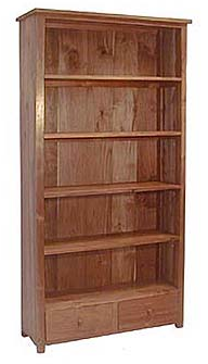 tall bookcase from reclaimed teak