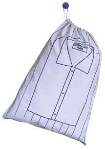 laundry bag with picture of folded shirt